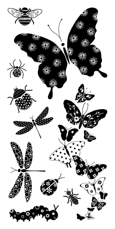 inkadinkado 10 clear stamps patterned bugs 97626 amazon co uk rh pinterest com