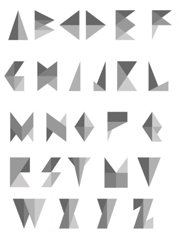 triangle shape font - Google Search W tattoo Pinterest - triangular graph paper