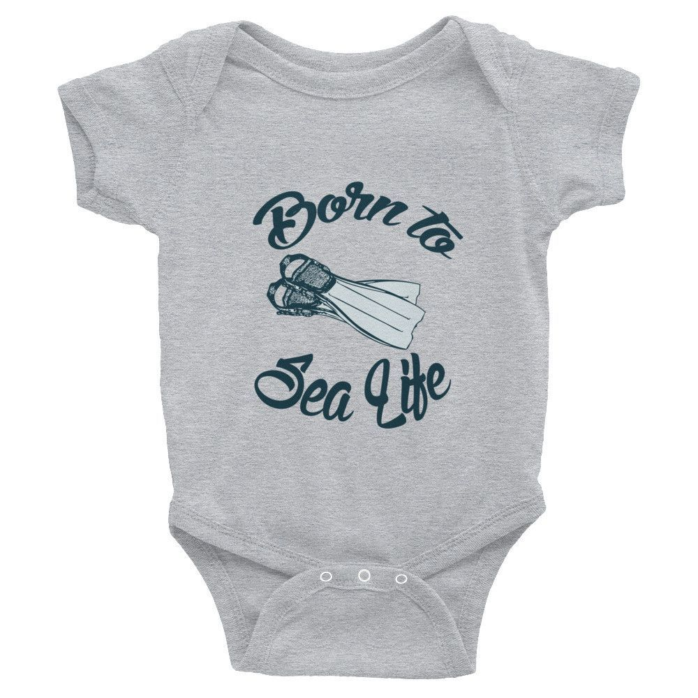 BORN TO SEA LIFE Infant short sleeve one-piece