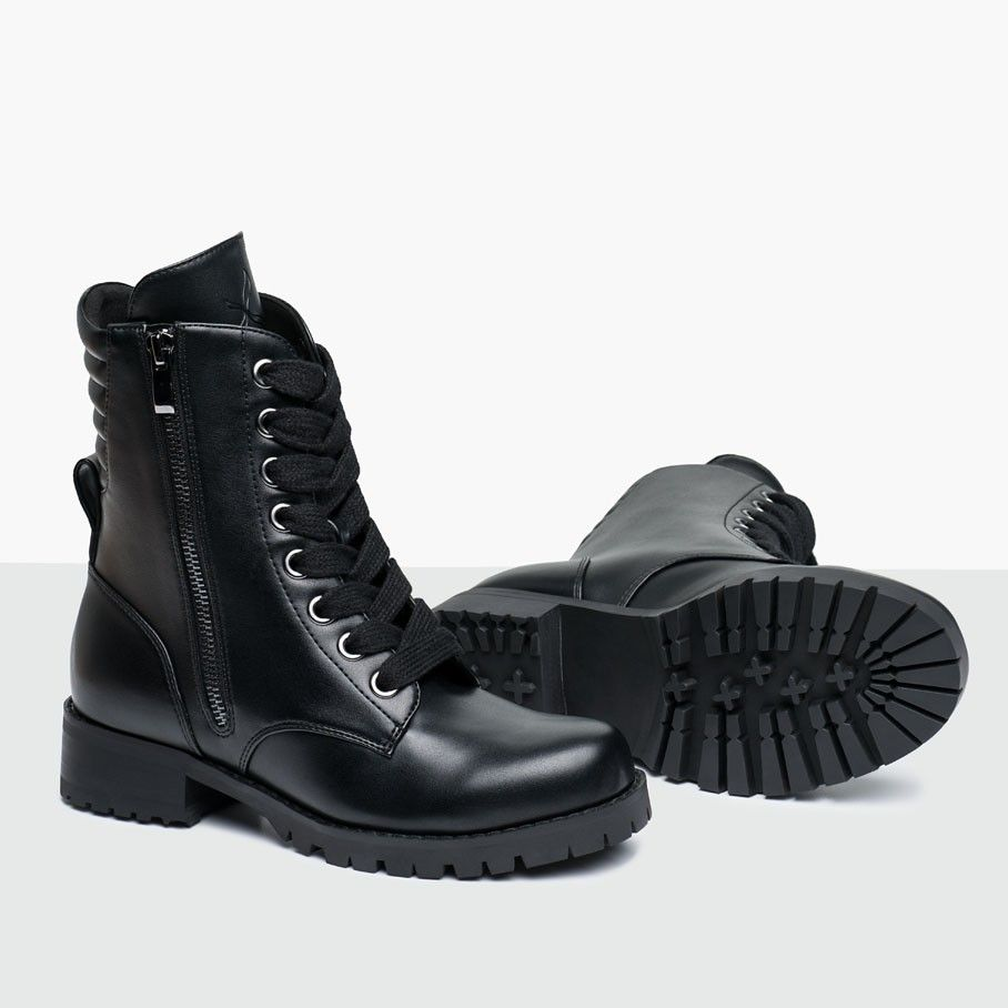 Swag Flat Sole Combat Boot