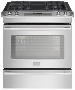 """FPGS3085PF Frigidaire Professional 30"""" Slide-In Gas Range with Keep Warm Drawer - Smudge-Proof Stainless Steel"""