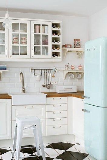 28 Ideas para decorar una cocina al estilo Vintage Pisos de madera - estilo vintage decoracion