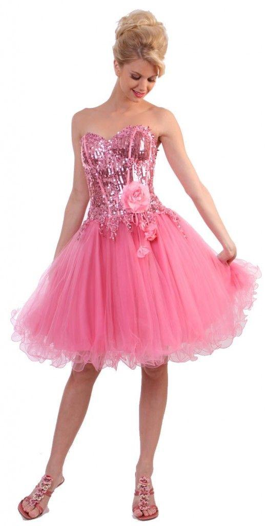 Bright Pink Short Dress | Ladies Dresses | Pinterest | Pink shorts ...