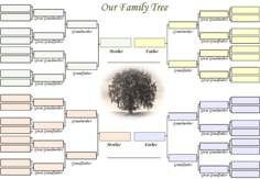 A blank family tree for our family charts of all kinds free blank family tree template dont let any more opportunities go by in capturing the knowledge of your aging family generations capture it and get it saigontimesfo
