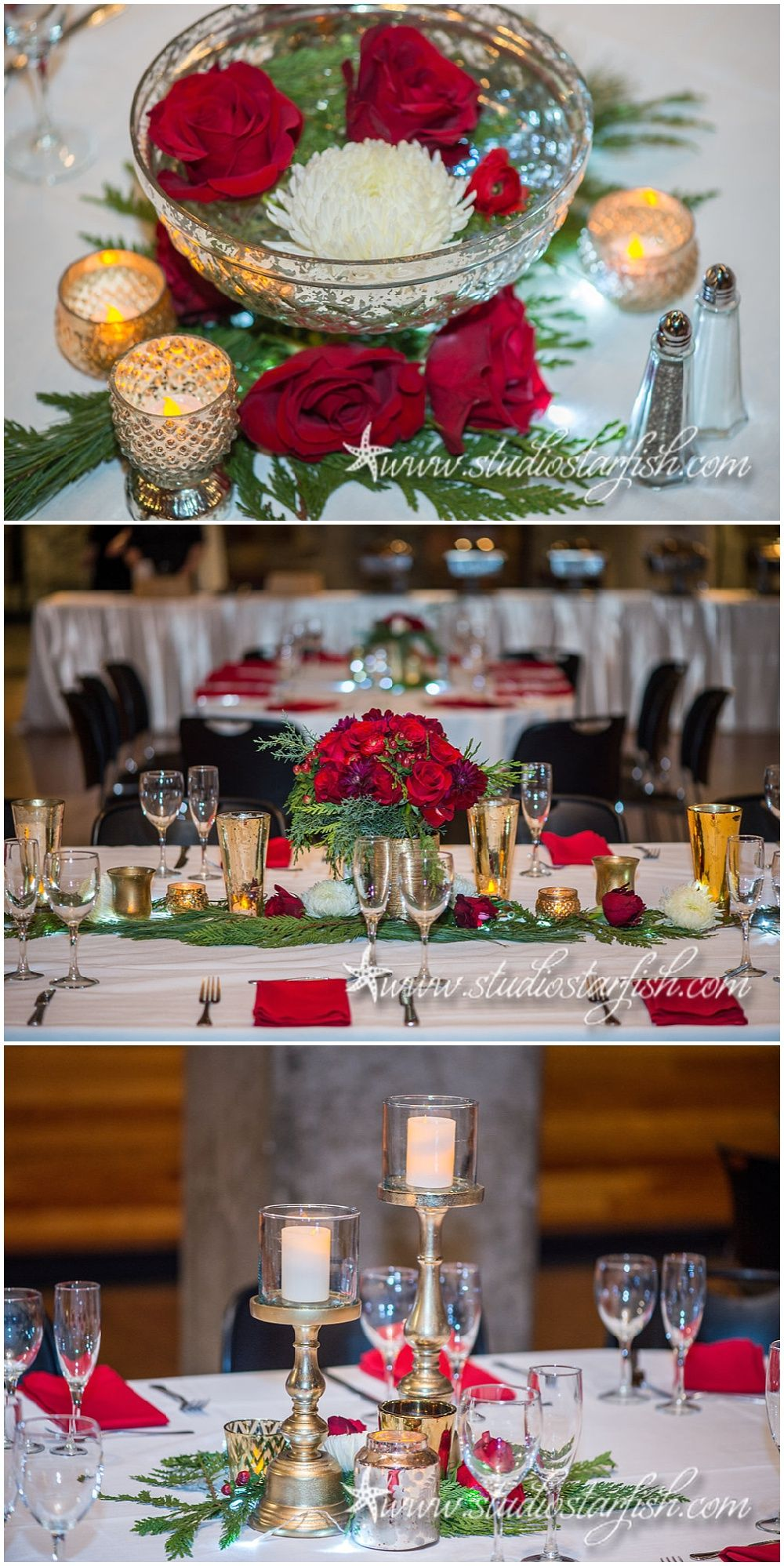 wedding reception places in twin cities%0A Winter wedding floral centerpieces designed by Minnesota wedding florist  Artemisia Studios at Mill City Museum wedding