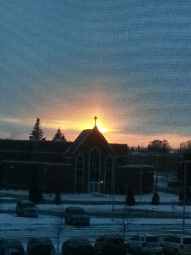 St.Mary's School view from my office window 2/27/15