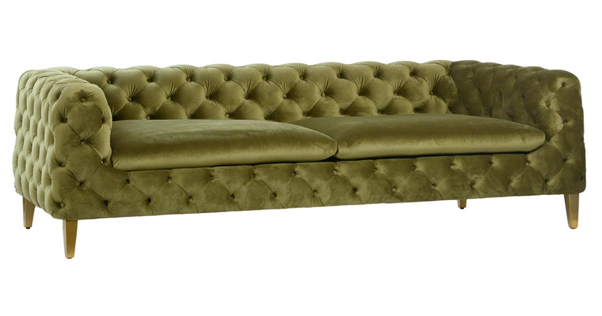 Modern Green Tufted Velvet Sofa Mix Furniture Design