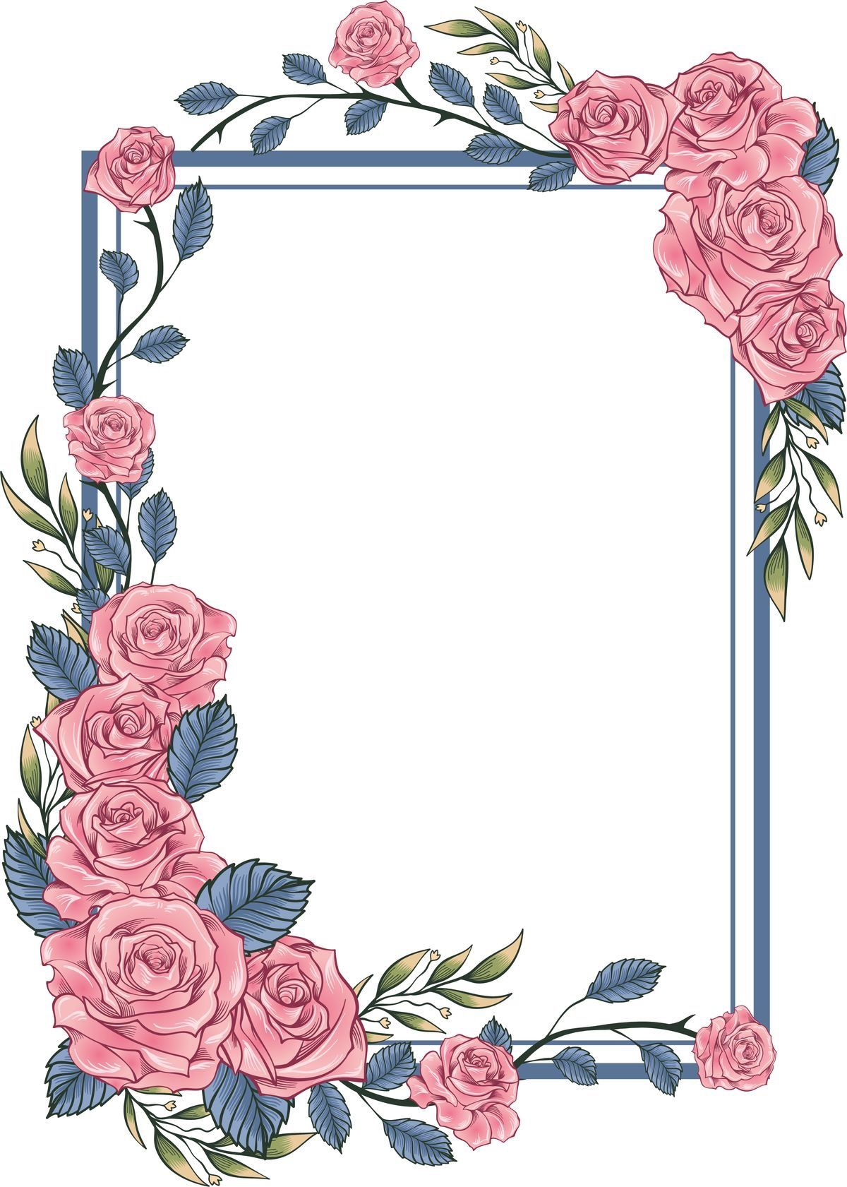 ป กพ นโดย Kriger Sisters ใน Fondos De Tarjetas กรอบ ดอกไม ภาพประกอบ