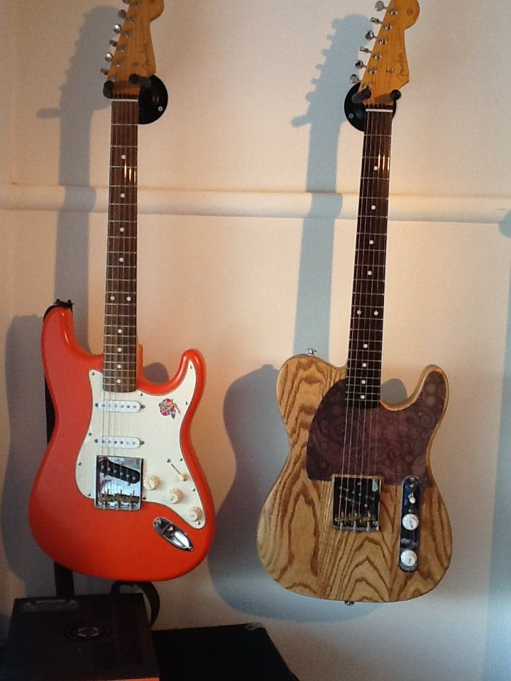 Two partscasters  A strat/tele hybrid and an esquire both
