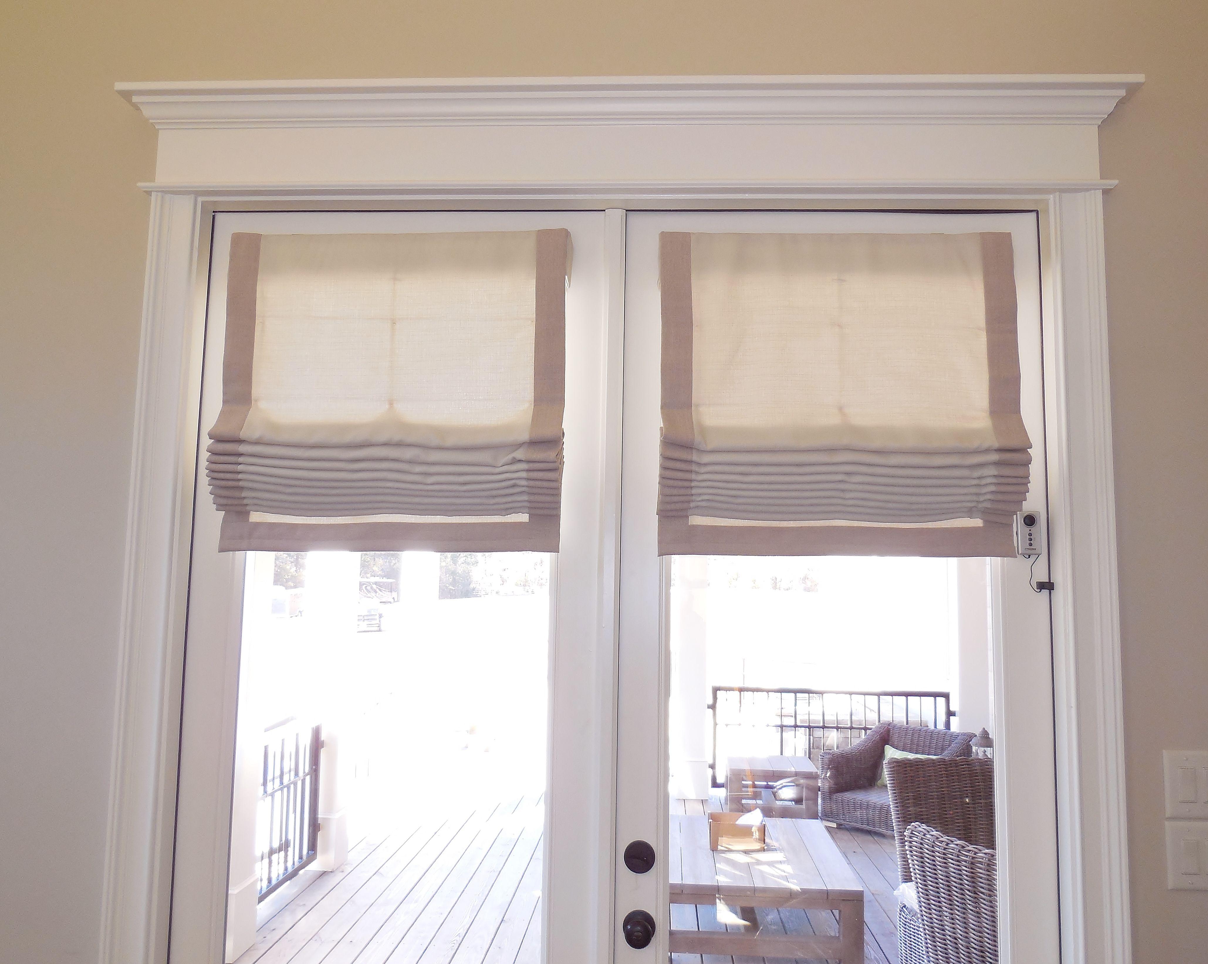 Banded Flat Roman Shades Windowtreatments Www Ladydiannes Com