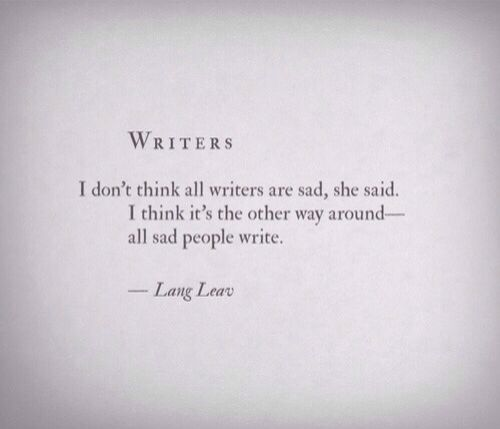 Beautiful words from Lang