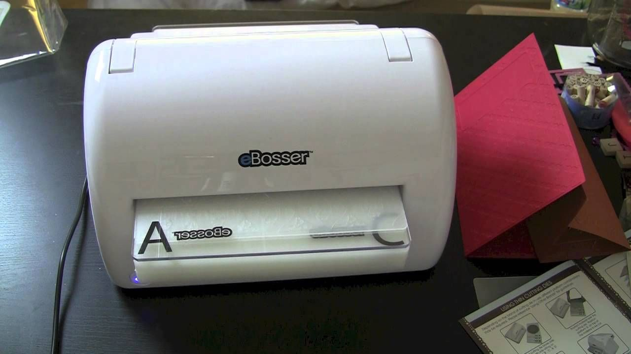 Ebosser Emboss With The Boss Fabric Vinyl Paper And