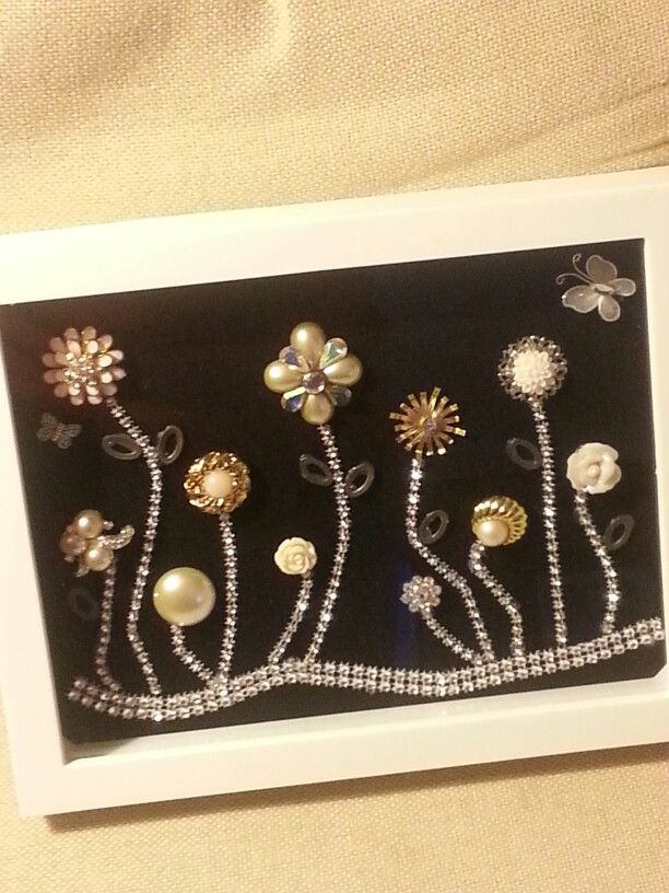Vintage to newer jewelry shadow box designs