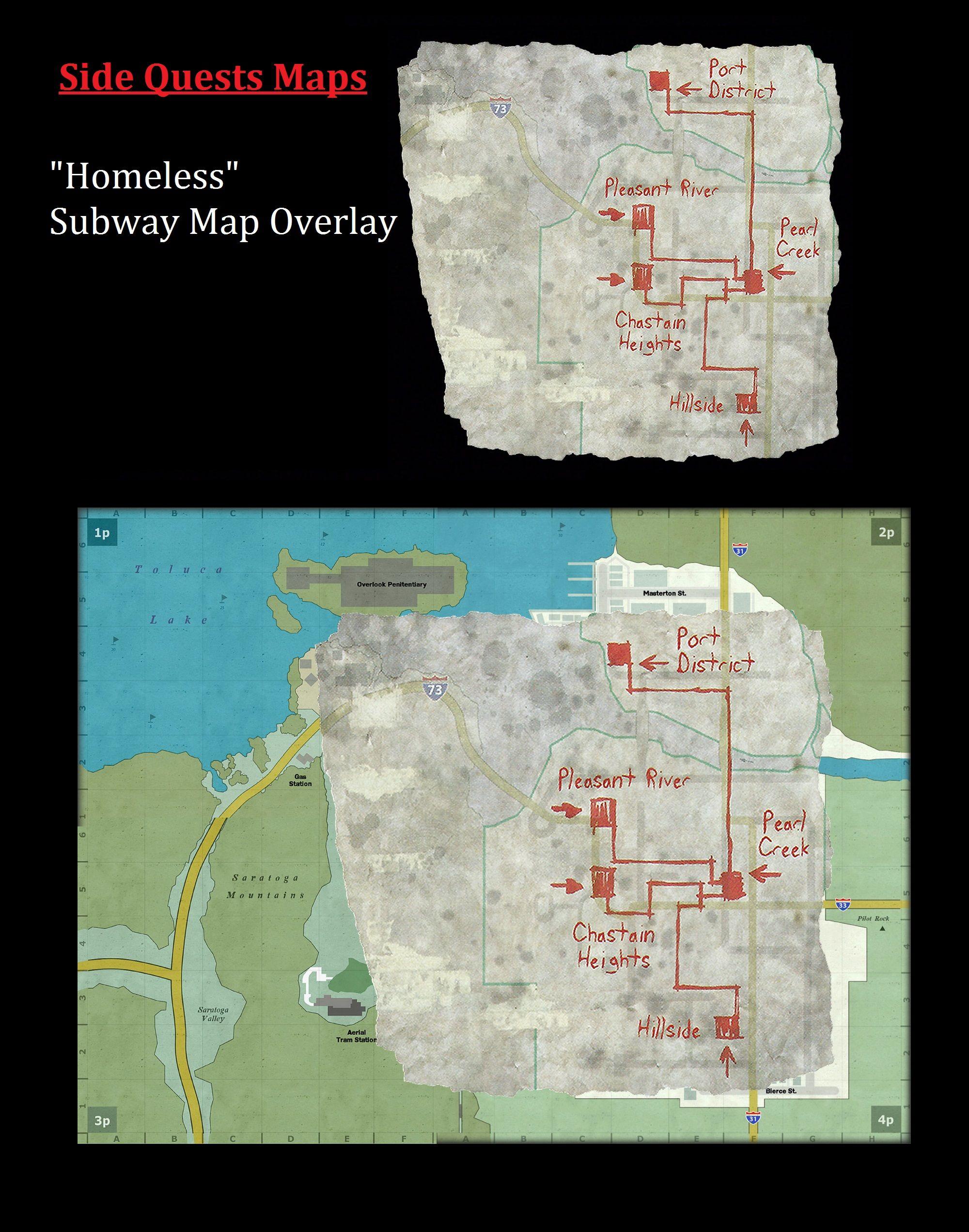 Subway Map Overlay.Homeless Silent Hill Silent Hill Subway Map Map