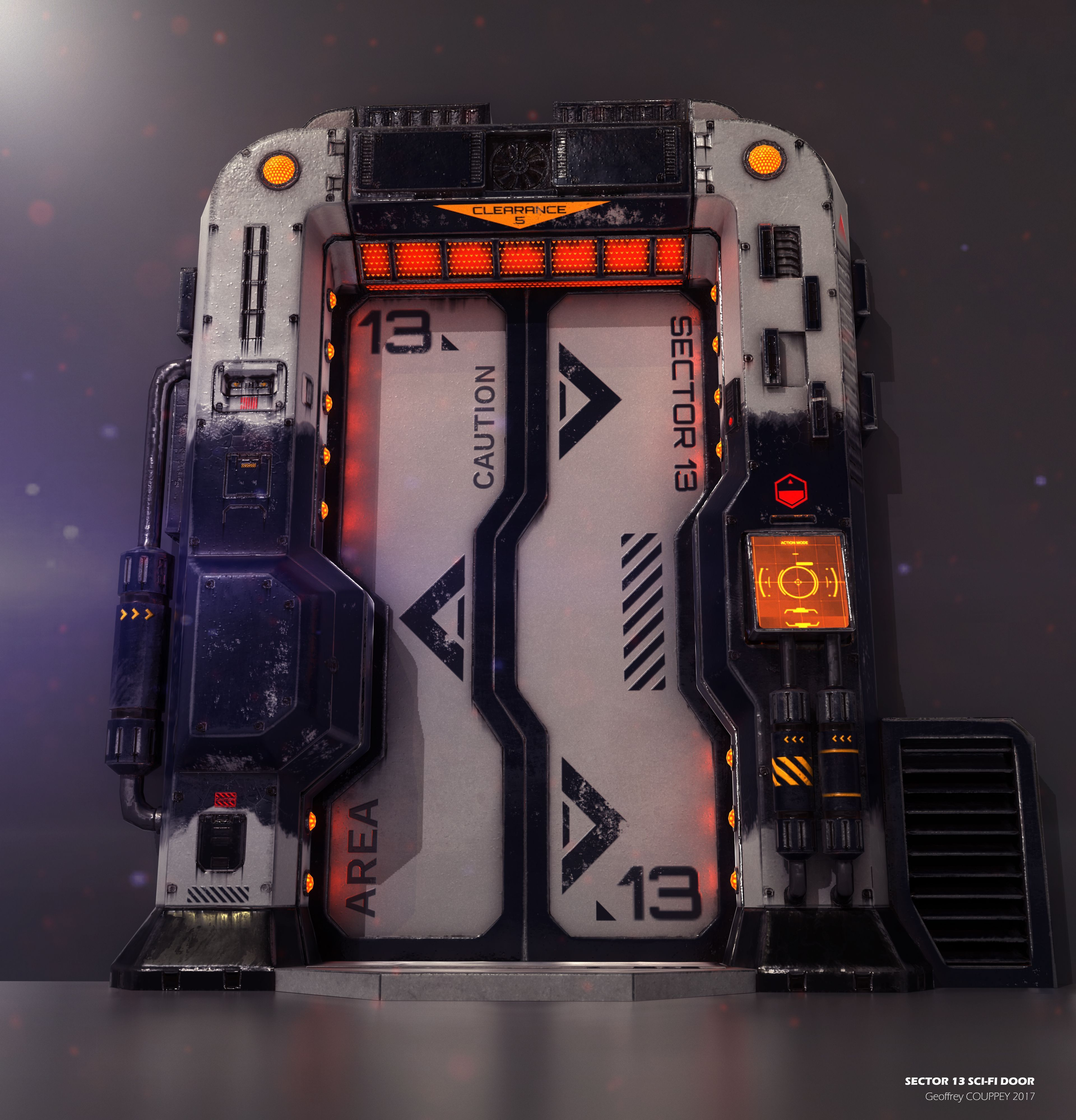 Sci Fi Door By Geoffreycouppey Sci Fi 3d Cgsociety Starcitizenships Sci Fi Props Spaceship Interior Sci Fi Environment