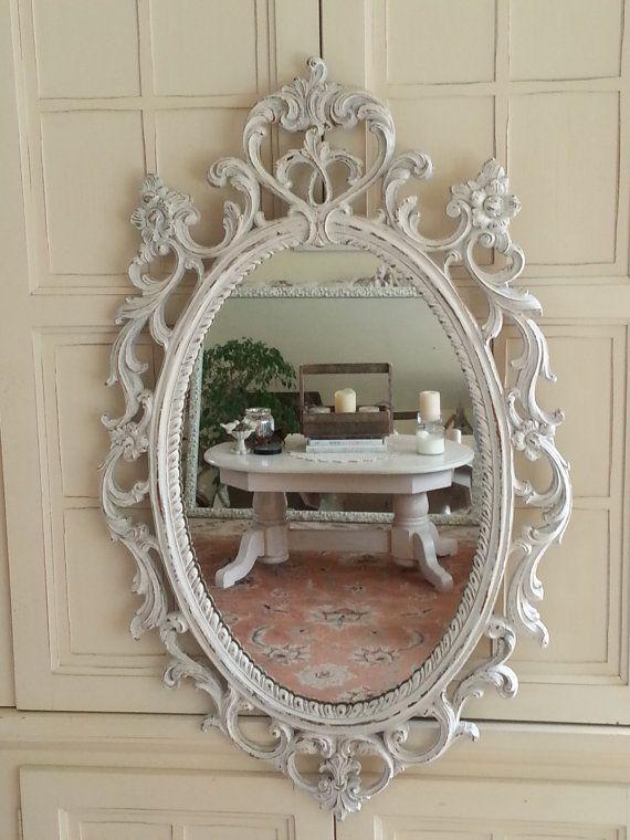 vintage ornate scrolled wood syroco princess wall mirror holleywood rh pinterest com