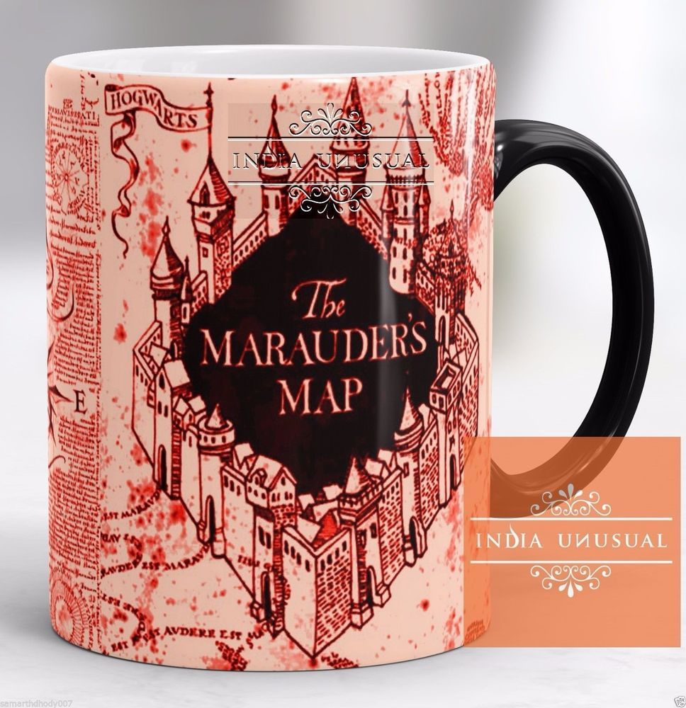 HARRY POTTER MARAUDERS MAP SNAPE COFFEE MUG
