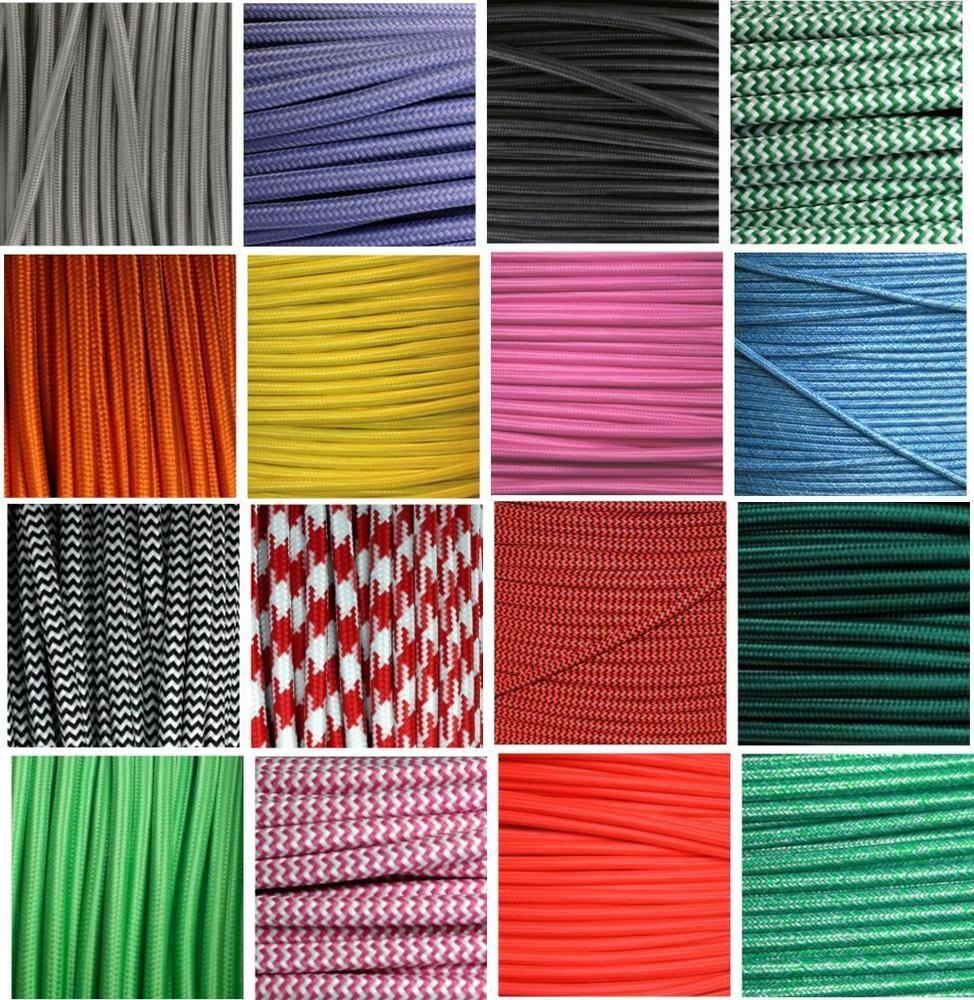 Details zu Textilkabel Stoffkabel Lampen-kabel Verlängerungs-Kabel ...