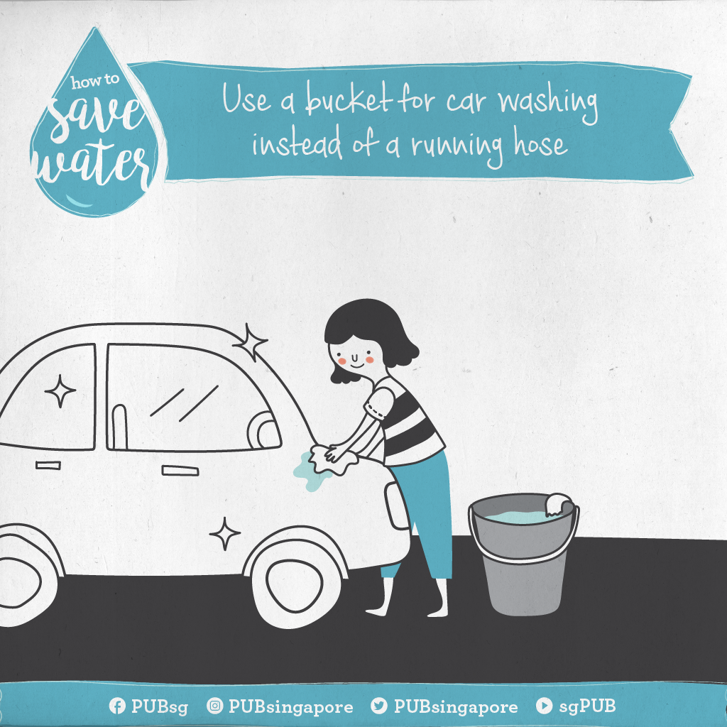 How To Save Water Use A Bucket For Car Washing Instead Of