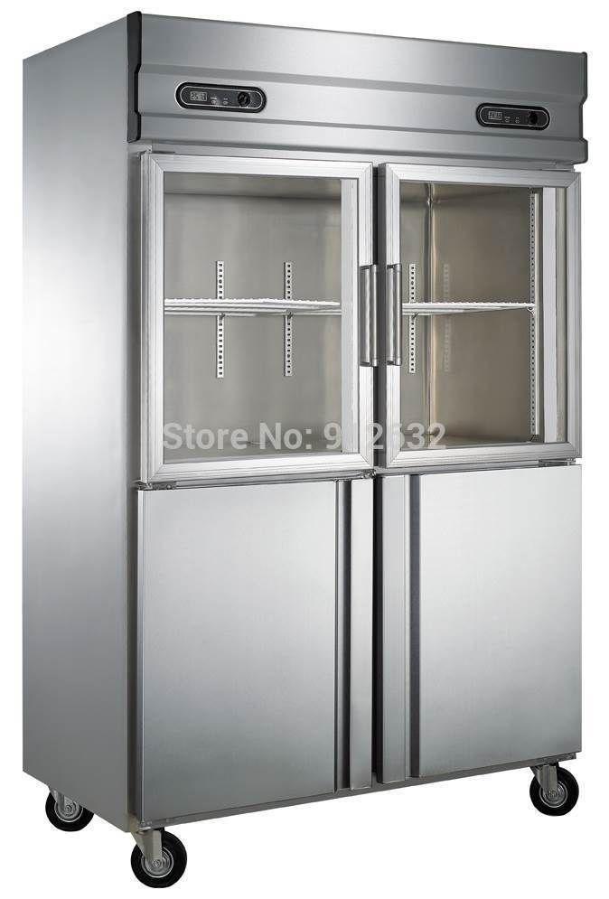 Commercial vertical 2 double door refrigerator freezer stainless commercial vertical 2 double door refrigerator freezer stainless steel and glass door refrigerator freezer planetlyrics Images
