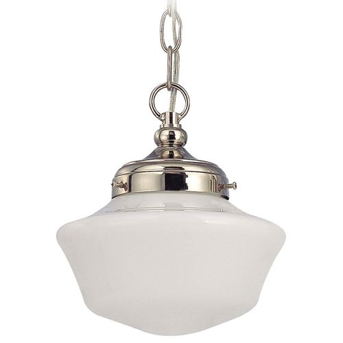 8 inch schoolhouse mini pendant light with opal schoolhouse glass 8 inch schoolhouse mini pendant light with opal schoolhouse glass fa4 15 mozeypictures Gallery