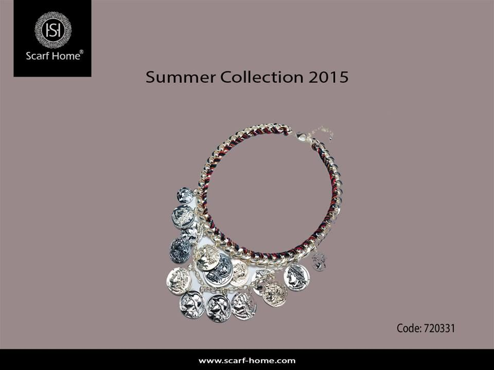 Friday has to be bright and cheerful and this necklace is the most Fashion Accessories for this summer.  You can find it in our branches.  Check the summer new collection 2015 now at all #scarf_home stores at: Cairo Festival City Mall  City Stars Mall Mall of Arabia Cairo City Center Alexandria Porto Marina Gezieret El Arab  #fashion #color #Accessories #summer #collection #necklace
