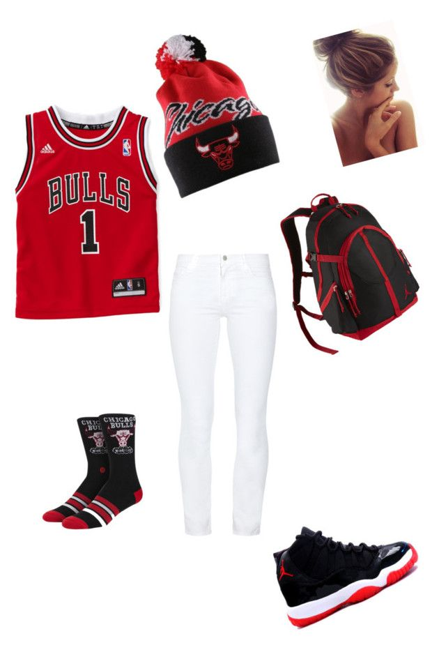 """""""Chicago Bulls OOTD ( who loves them bulls)"""" by ariana-boo-cdxx ❤ liked on Polyvore featuring J Brand"""