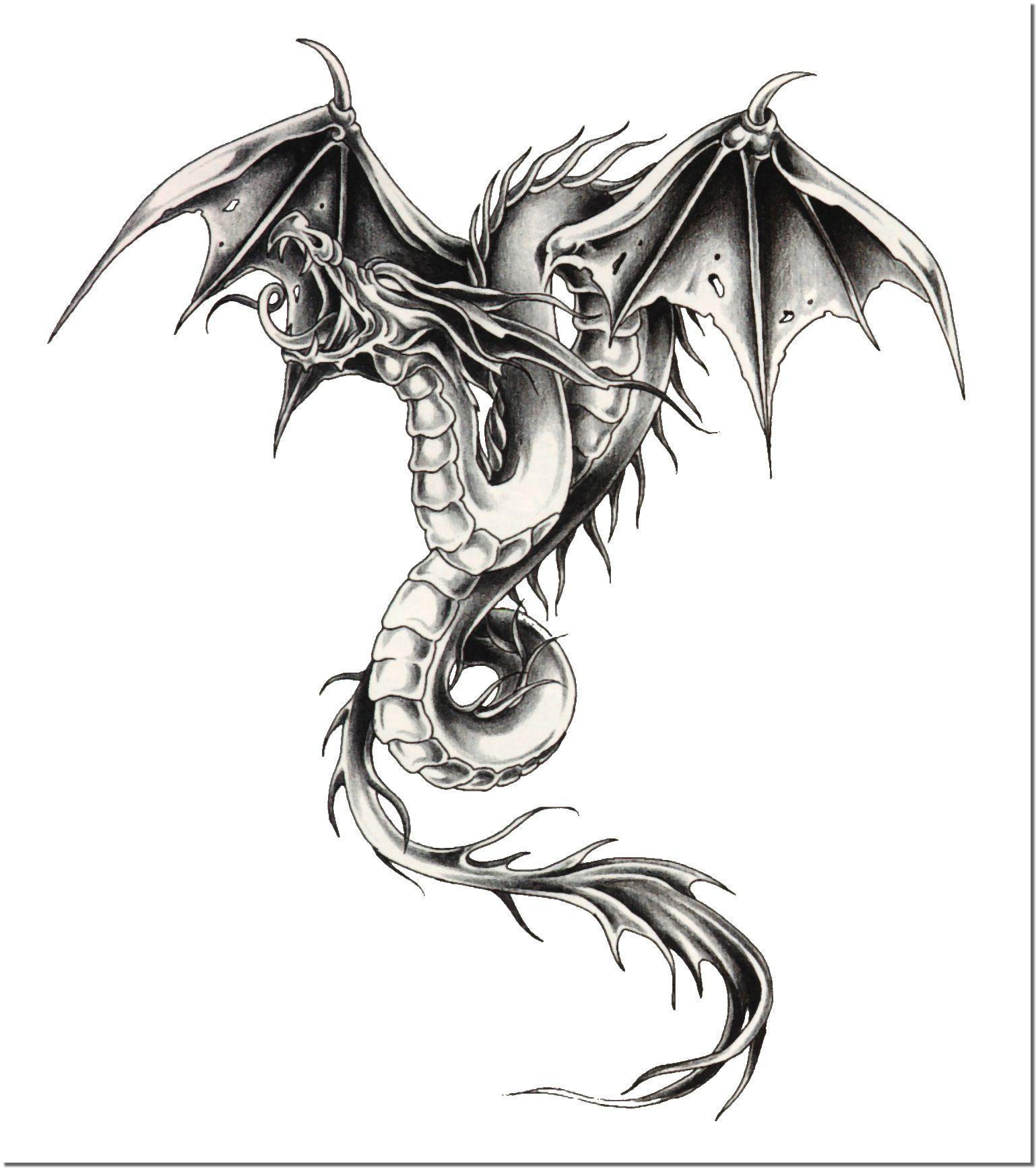 Драконы для тату 81