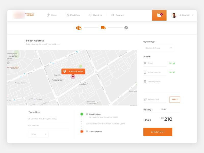 Food Delivery Checkout Web Design Web Design User Interface Dashboard Design