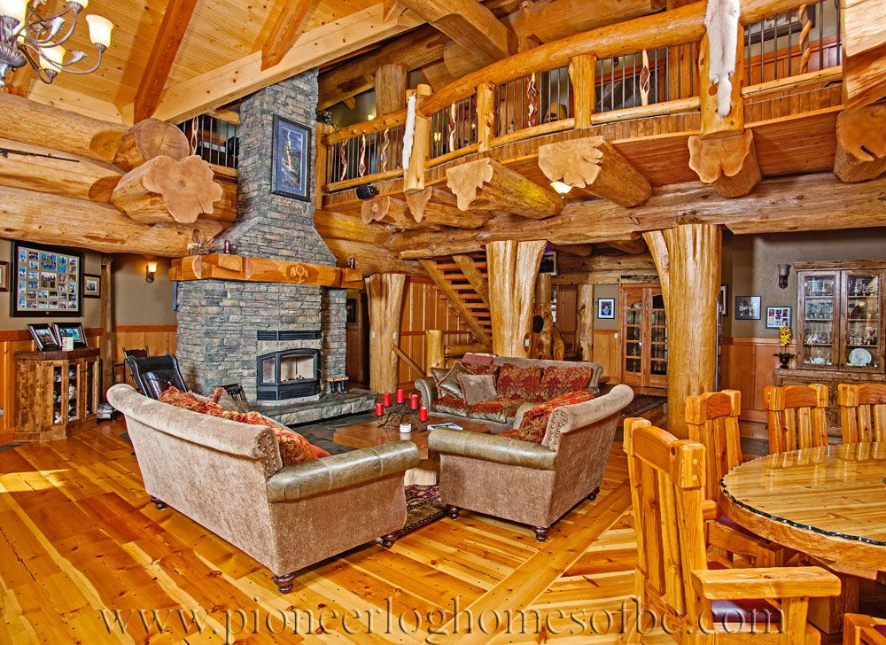 Log Cabin Style Living Room Loft Designs Bc Canada Living Room Loft Log Home Living Cabin Style