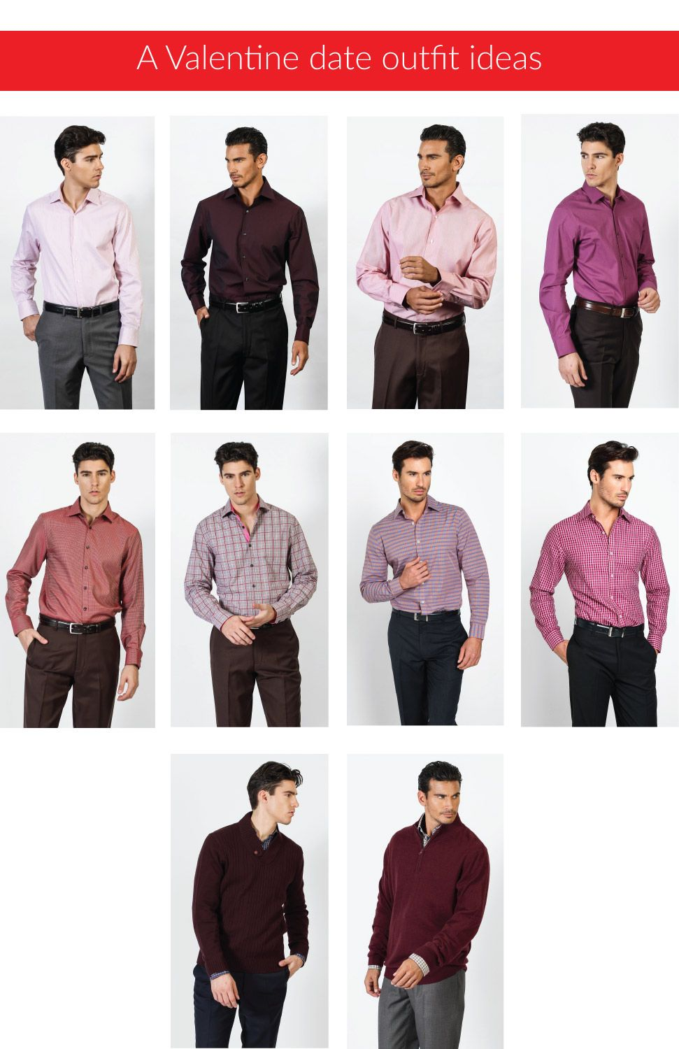 d73fbb26876aea Thinking of a valentine outfit to wear on a date? Red,pink and wine colors  can we your best choice. You can find these outfits at bachrach.