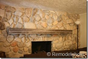 installing a wood mantel on a stone wall in 2019 baby shower rh pinterest com