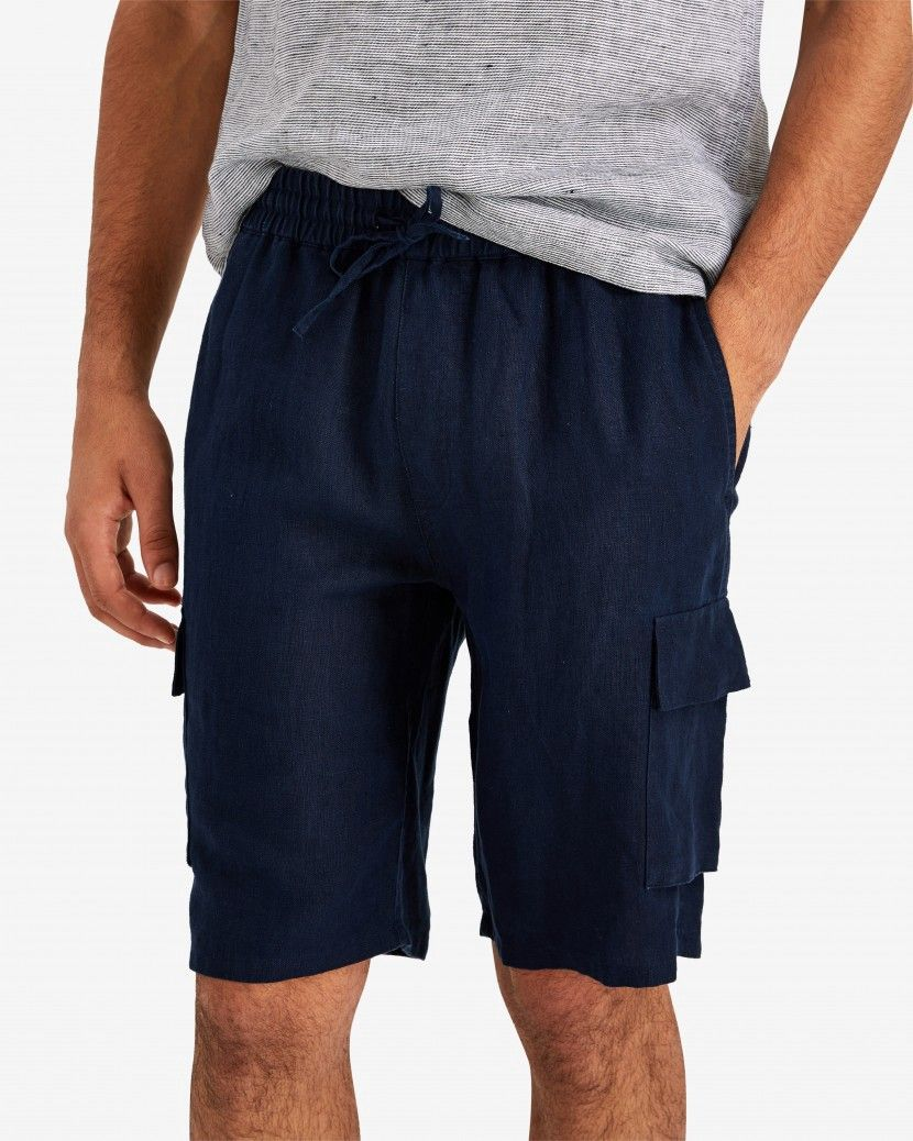 6e742e1254 Onia Tom Linen Cargo Shorts - Deep Navy XXL | Products | Shorts ...