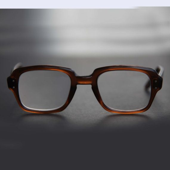 us eyeglasses military square rectangle keyhole thick brown frame rx prescription eyewear sunglasses men women combat