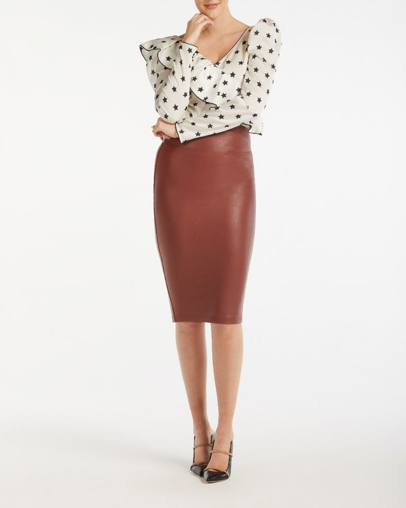 00a6d01a0f1c5 Faux Leather Pencil Skirt - 20190R | SPANX Faux Leather Pencil Skirt Faux  Leather Pencil Skirt