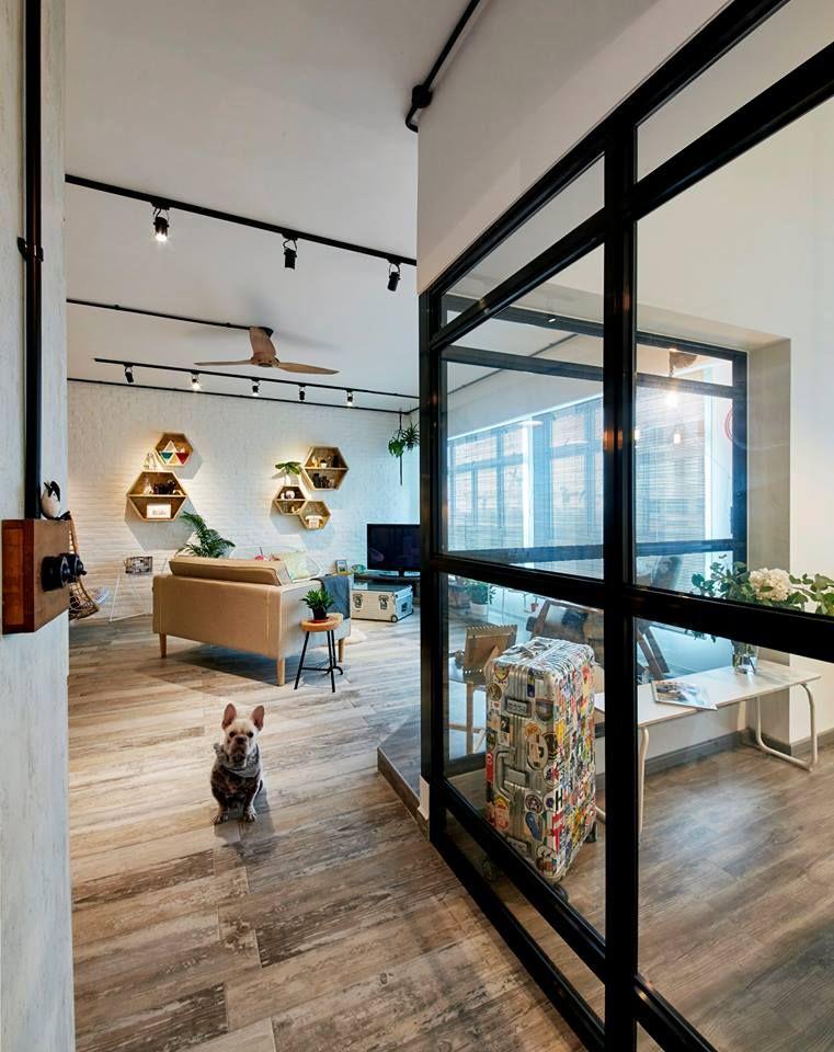 Acacia Breeze Industrial HDB Interior Design Living