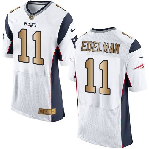 ecab6e3f Nike Patriots #11 Julian Edelman White Men's Stitched NFL New Elite ...