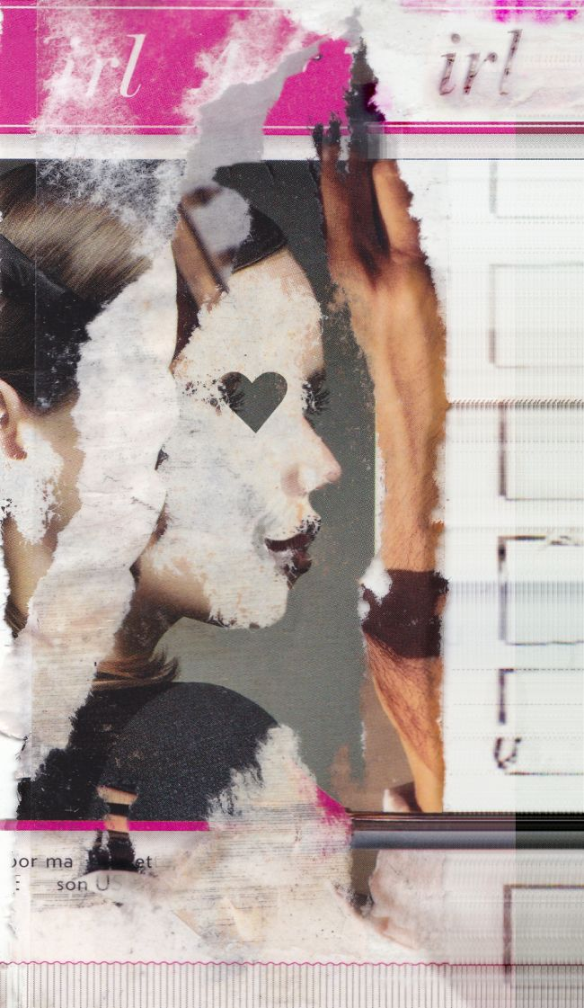 Elisha Sarti, IRL (A Real Girl), 2014 #Collage Output medium and dimensions vary, 0.58:1. http://elishasarti.com/irl.html