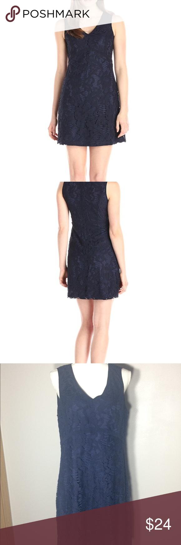 Lace dress navy  Lark u Roe Navy Blue Lace Dress Size   Pinterest  Lace dress