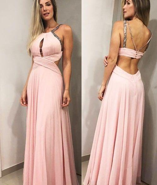 Rosa, rose e rosa seco: vestidos longos para | Vestidos para