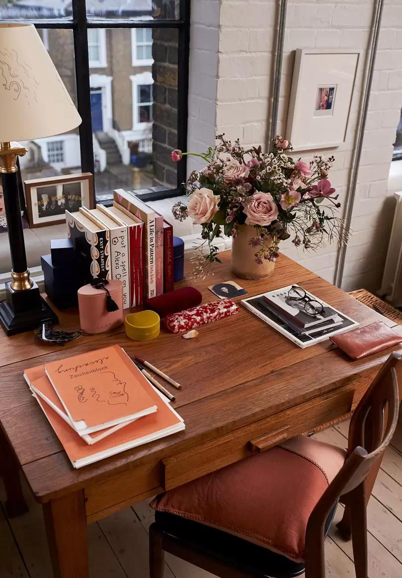 Alexa Chung's desk setup is a delight