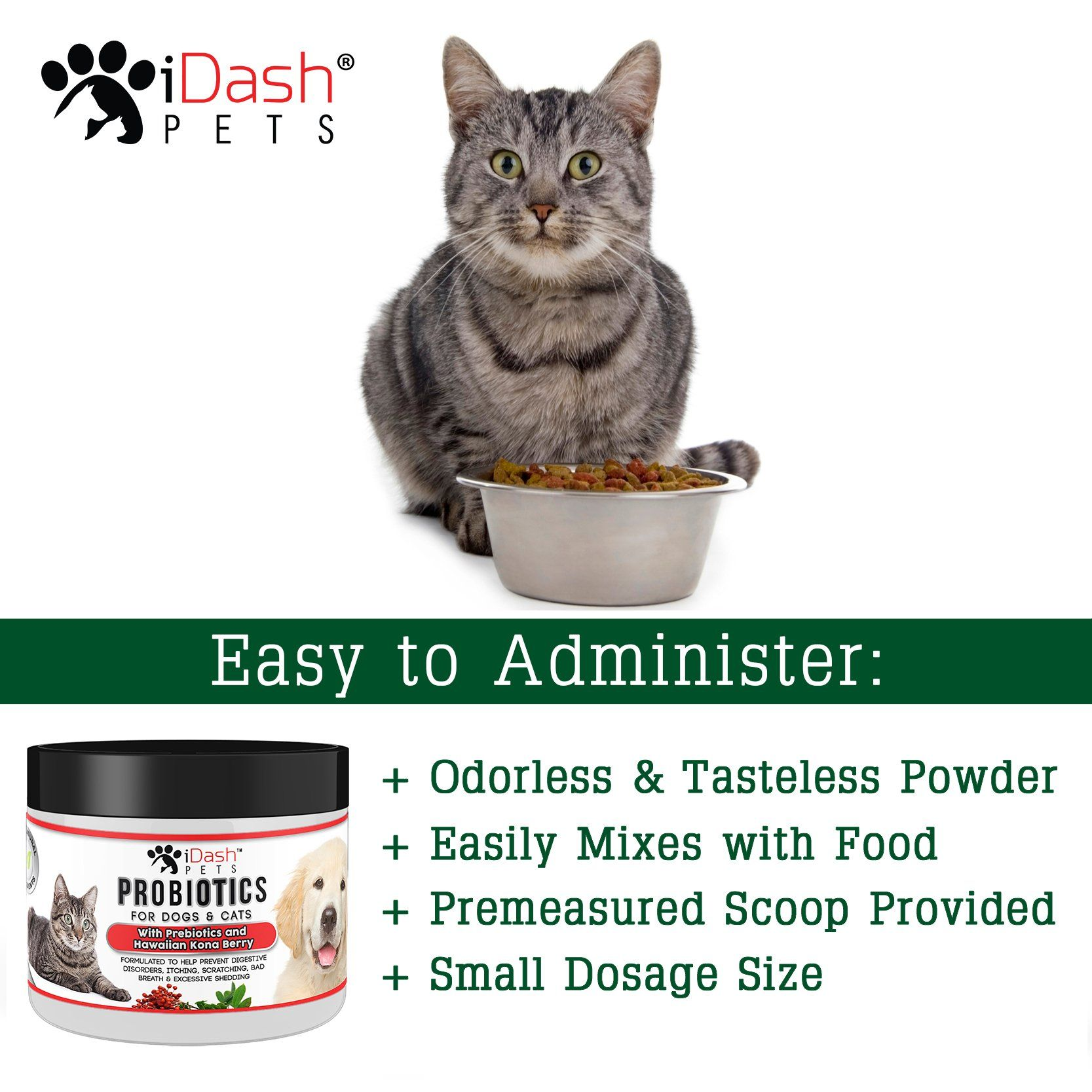 Advanced Probiotics for Dogs and Cats by iDash Pets Best