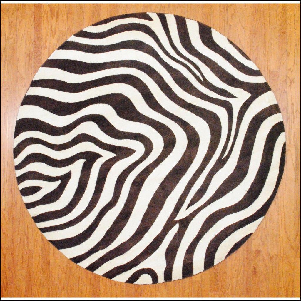 Zebra Round Rug