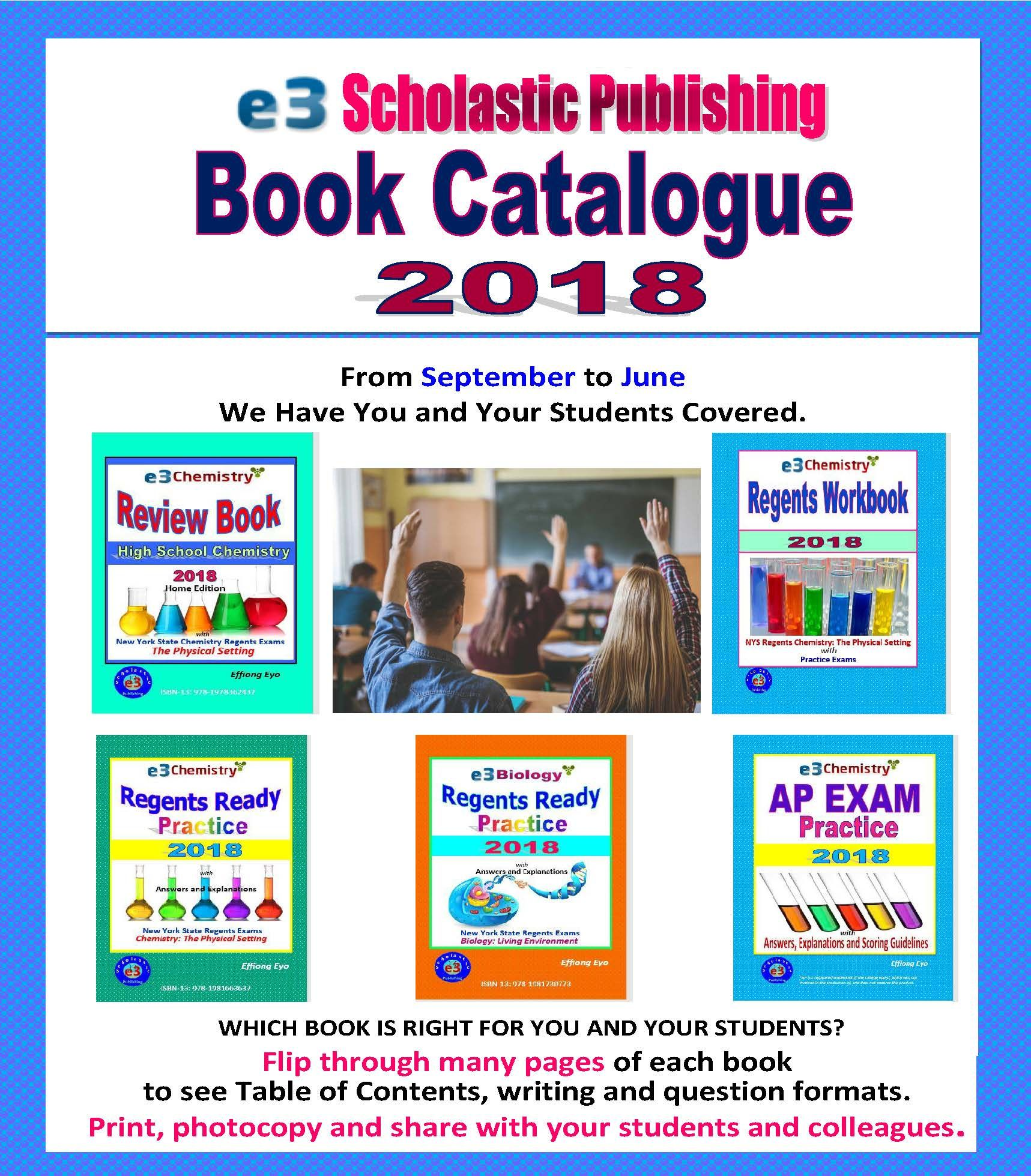E3 Scholastic Book Catalog 2018 Regents Chemistry And Biology Ap Chemistry Books View Read Print And Share To Scholastic Book Scholastic Book Catalogue
