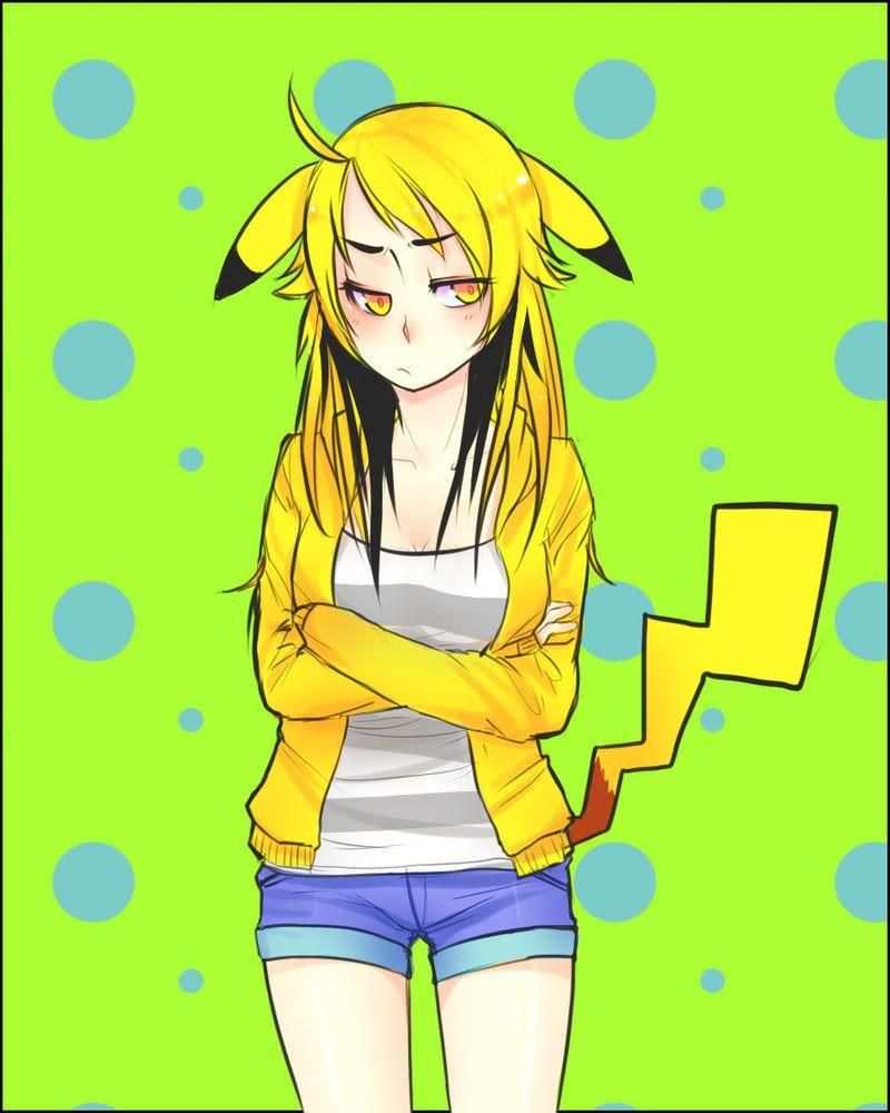 Марта, картинки для девочек аниме пикачу