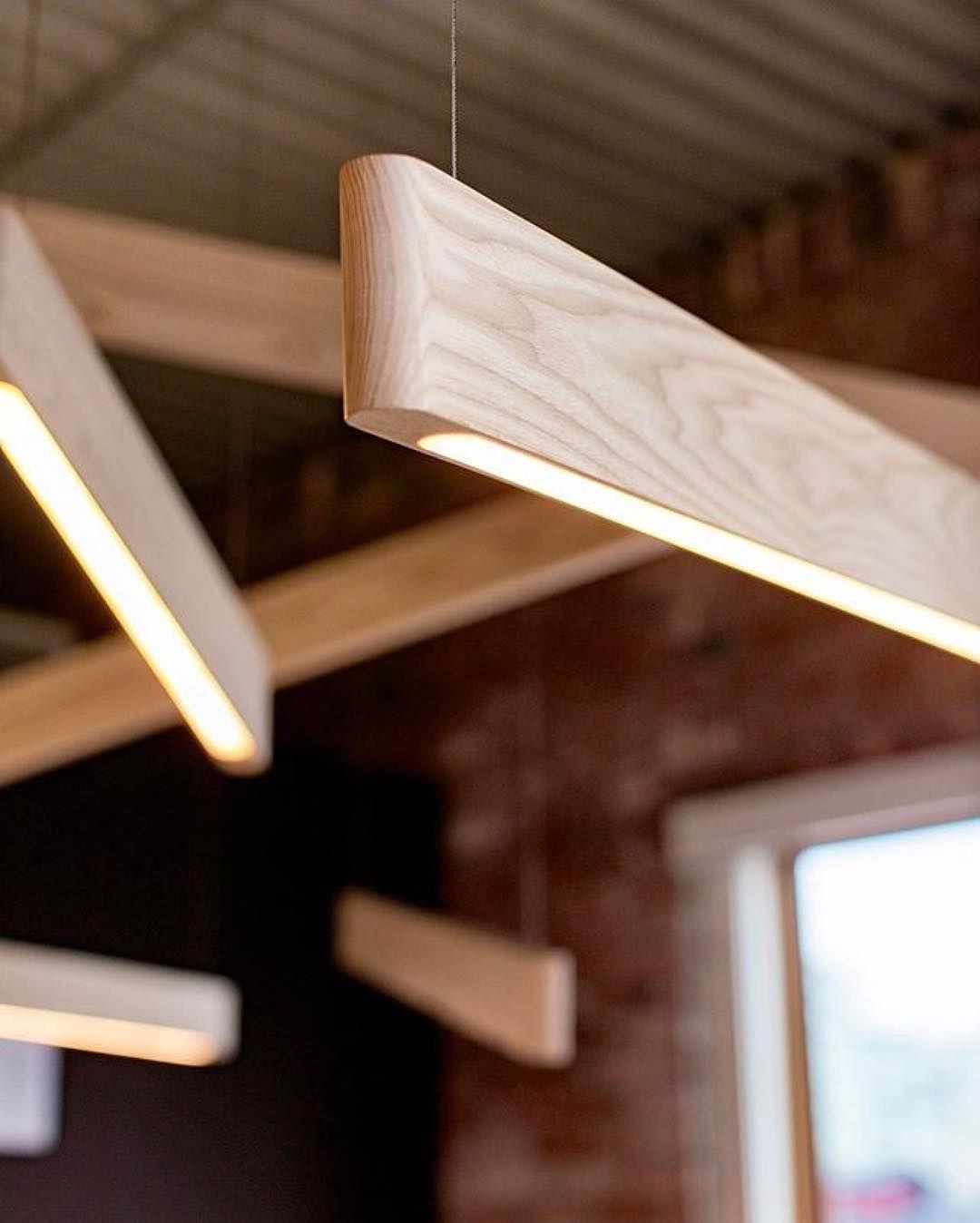 Line Lights In White Ash Repost Matthew Mccormick Design Light Wood Luminaire Bois Deco Lumineuse Mobilier De Salon