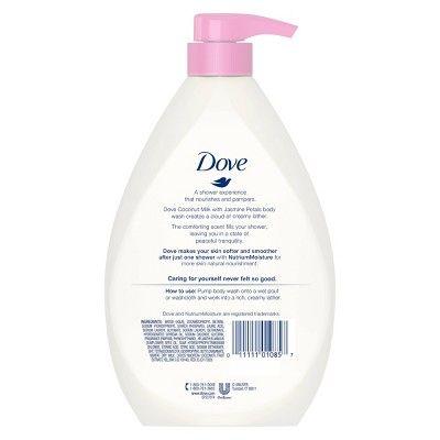 Dove Purely Pampering Coconut Milk Jasmine Petals Body Wash 34 Fl Oz Body Wash Dove Body Wash Gentle Cleanser