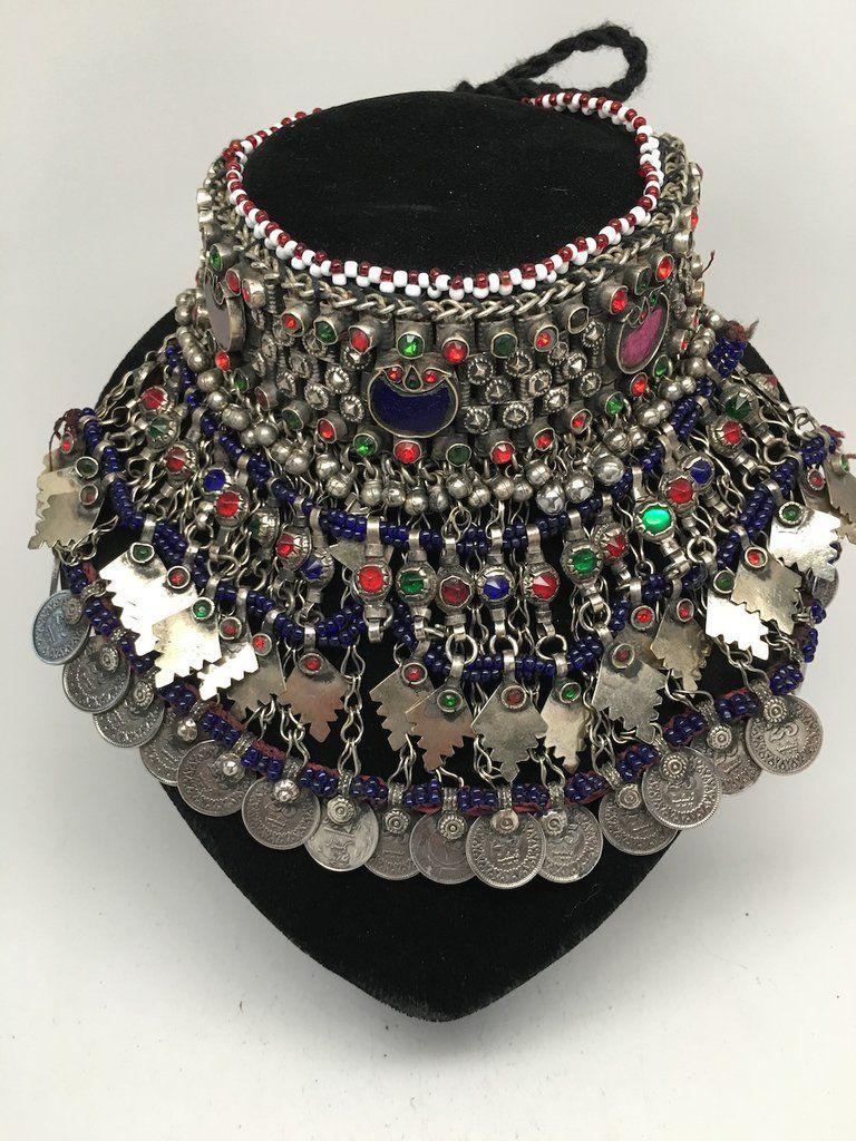 Afghan Choker Necklace Fashion Ethnic Tribal Accessory Costume Jewelry Boho
