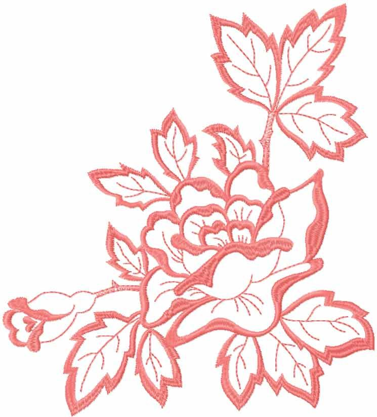 Rose Pink Free Embroidery Design 33 Flowers Free Machine