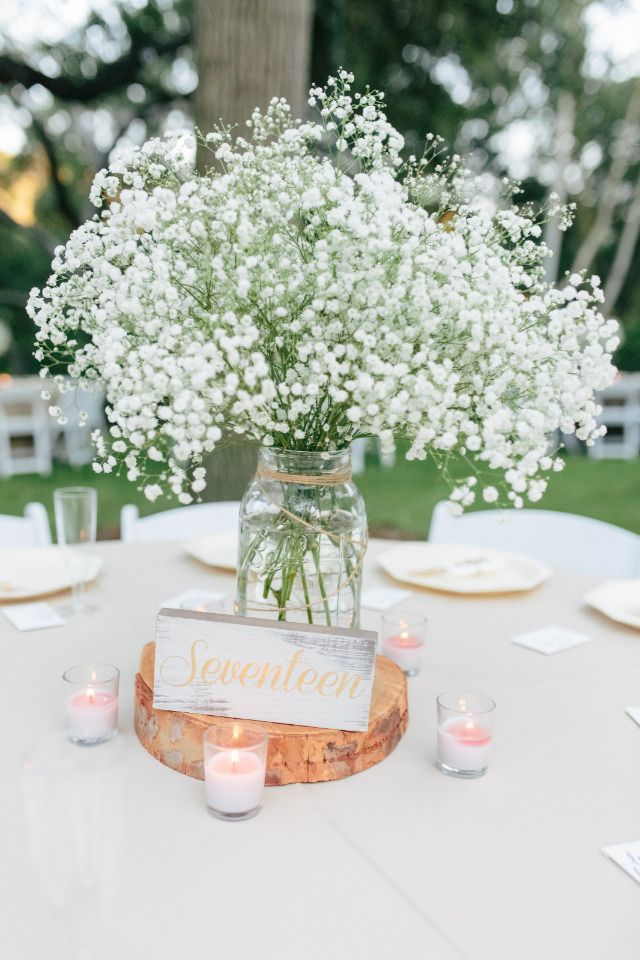 a white and pink wedding with baby s breath for days escort cards rh pinterest com